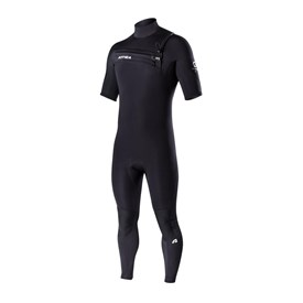 ATTICA Wetsuits - Omega GBS 2/2mm Short Sleeve Steamer - Black/White Prints - 2017/18 Summer Range