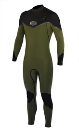 REEFLEX WETSUITS Rambo 4/3mm GBS Chest Zip Sealed Steamer - Army Green/Black - 2017 Winter Range