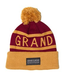 GRAND FLAVOUR Get Ahead Beanie - Burgundy/ Gold