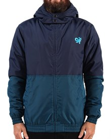 GRAND FLAVOUR Trainer Jacket - Navy/Green