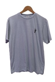 ZION WETSUITS Carry the Torch Badge T Shirt - Pale Blue
