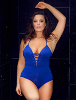 Jets Jetset Plunge Lace Up One Piece Swimwear with Tia Provost