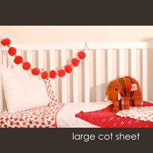 Just Sprouted - Large Cot Sheet -Apples