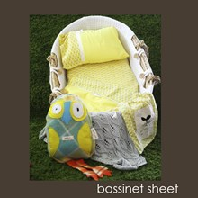 Just Sprouted -Bassinet Sheet -Yellow Floral