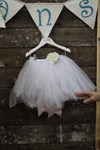 White Tutu with built in bamboo pants