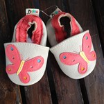 Leather Soft Pre Walker Shoes - butterfly