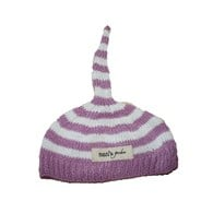 Bamboo handknitted baby night cap - Lavender