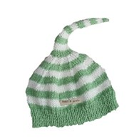 Bamboo hand knitted baby night cap - Green