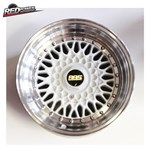 BBS RS style alloy wheels-15x8-5x100/114.3-(white, silver)