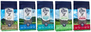 Ziwi Peak Air-Dried Dog Food: 5 Recipes, in 4 pouch sizes