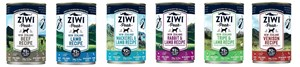 Ziwi Peak Dog Cans, 390 gram, available in trays of 12 cans in 5 flavours.