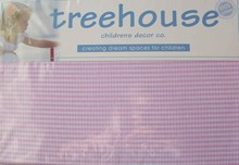Pink Mini Check Fitted Sheet