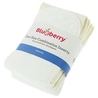Blueberry One Size Combination Inserts - 3 Pack - Seconds