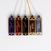 Real Working Harmonica Necklace 5 Colours to Choose From