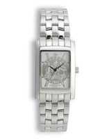 Coinwatch Elegance Collection Womens Silver (Small) Australian Sixpence with Silver Bracelet