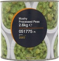 Tin Mushy processed peas 6 x 2.61 kg
