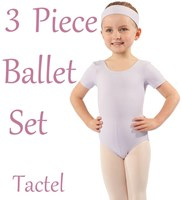 Studio 7, Girls 3 Piece Ballet Set, (2 Colours) TACTEL