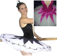 Velvet Star Tutu, Pancaked, Black/White, Orchid/White, Girls