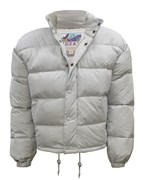 Down Filled Puffa Jacket Silver