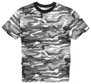 100% Cotton Basic Military Style T-shirt - Urban Camo