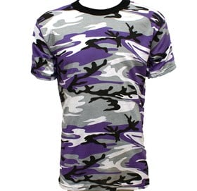 Genuine US Military Purple Camouflage T-shirt