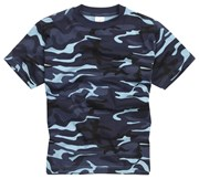 100% Cotton Basic Military Style T-shirt - Midnight
