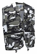 Camo Multi-Pocket Fishing Vest Urban