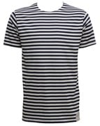 Russian Striped Short Sleeve T-shirt Black