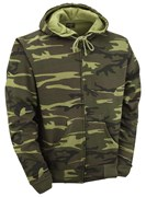Camouflage Zipped Hoodie Woodland