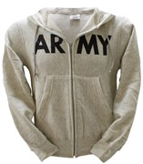 US Army Print Zip-Up Hoodie
