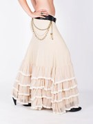 Skirt - FishTail - Ruffle Hem/Ruffle Laced Trim