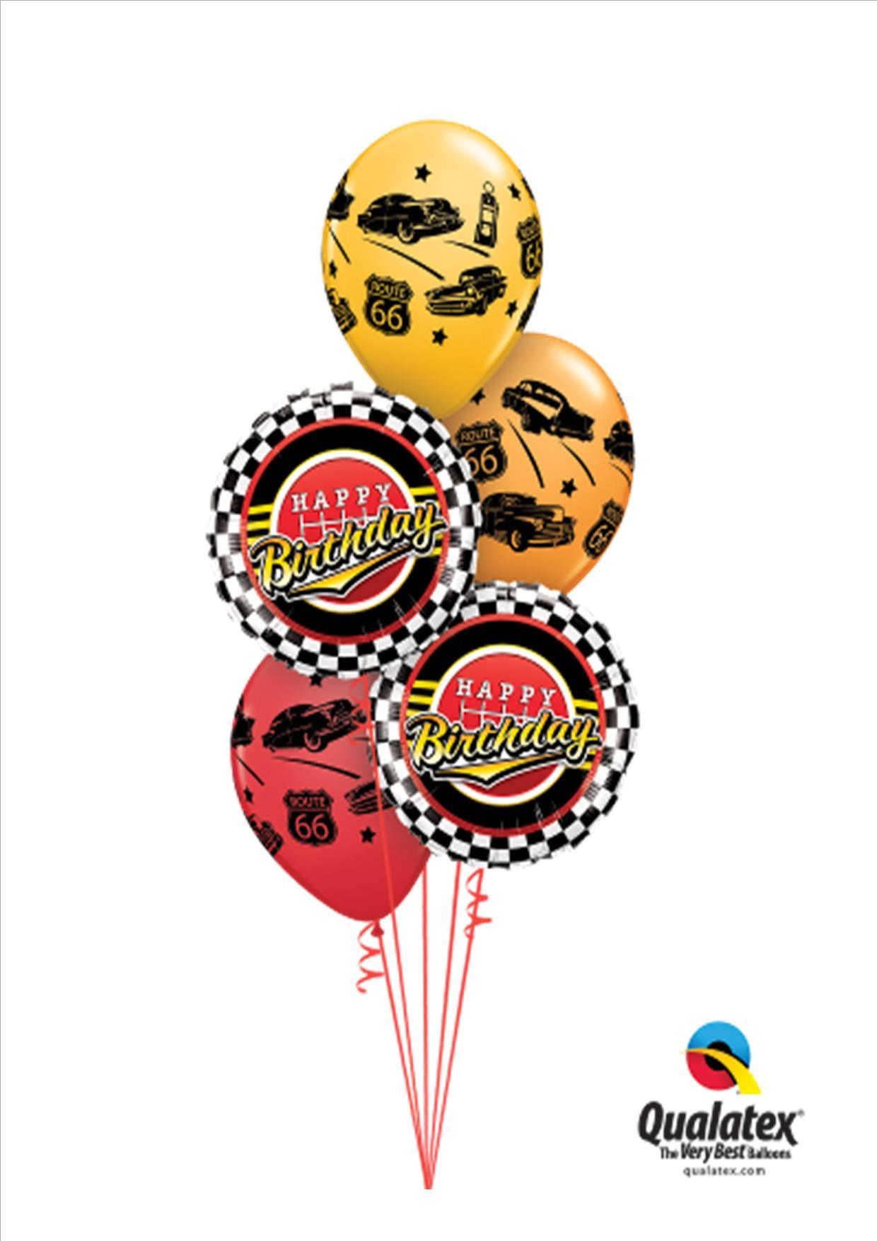 Full Throttle Car Birthday Balloon Bouquet Gifts In The Hills