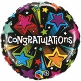 Congratulations Stars Balloon In A Box
