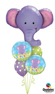 New Baby Elephant Bouquet - Blue or Pink