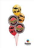 Full Throttle Car Birthday Balloon Bouquet