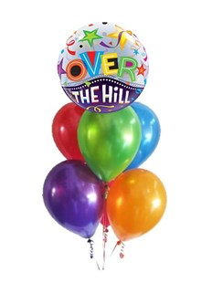 Over the Hill Bubble Balloon Bouquet
