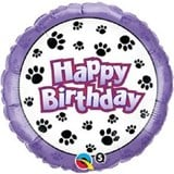 Puppy Paw Prints Birthday Balloon In A Box