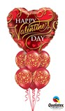 Happy Valentine's Day Heart Balloon Bouquet