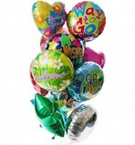 12 Foils - Balloon Bouquet
