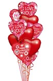 Valentines Day Heart Cluster
