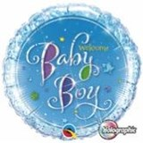 Baby Boy Shimmer Balloon In A Box
