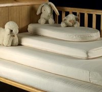 Certified organic wool & coir cot or cot-bed mattress & protector set