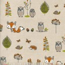 Woodland creatures design curtains