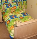 Monkey business bright cot bed duvet sets