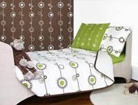 Contemporary George cot bed bedding set by Olli and Lime