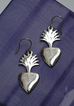 mixteca heart earrings
