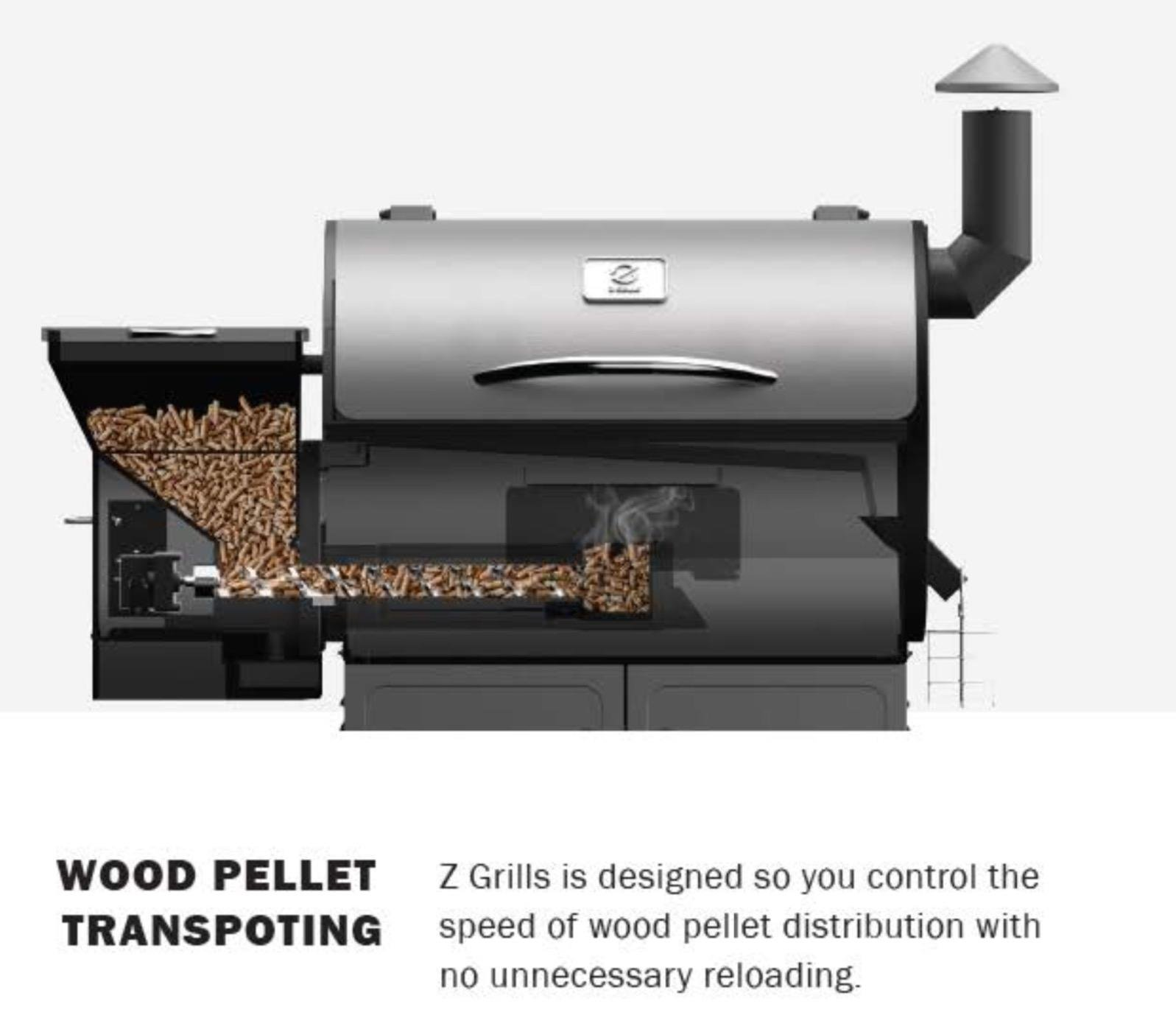 Z GRILL WOOD FIRED PELLET GRILL WITH CART BASE AND FREE ...