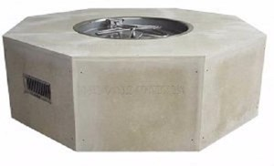 HPC Ready-to-Finish Gas Outdoor Octagon Fire Feature Remote Electronic Ignition - U54O/25SSCEK 120 VAC
