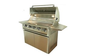"Allegra 38"" Stainless Steel Grill On Cart- AHT-AL38F-T"
