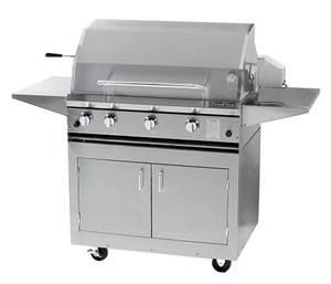 ProFire Professional Series 36-Inch Freestanding Infrared Hybrid  Gas Grill With Rotisserie -PF36RIH + PF36SSCBN